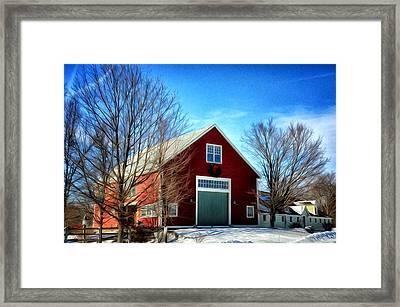 New Hampshire Farm Framed Print by Tricia Marchlik