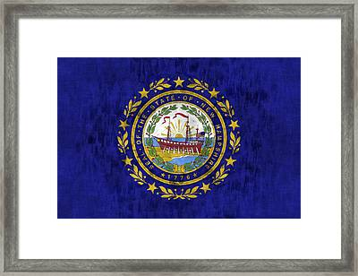 New Hampshire Flag Framed Print by World Art Prints And Designs