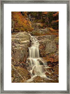 New Hampshire Flume Cascade Framed Print by Adam Jewell