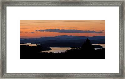 New Hampshire Sunset Framed Print by Mim White