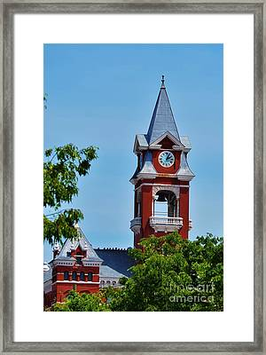 New Hanover County Courthouse Bell Tower Framed Print by Bob Sample