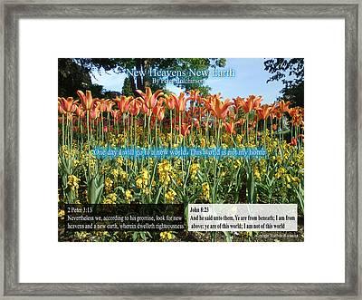 New Heavens New Earth Framed Print