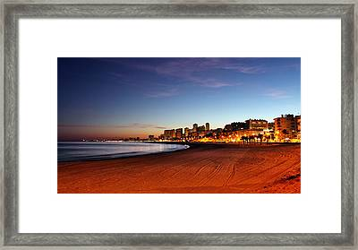 New Home At Night Framed Print