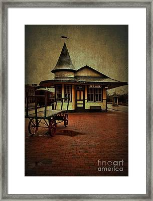 Framed Print featuring the photograph New Hope Ivyland Train Station by Debra Fedchin