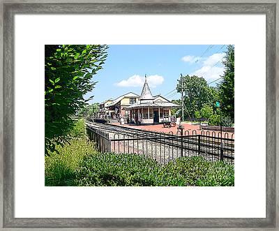 New Hope Train Station Framed Print