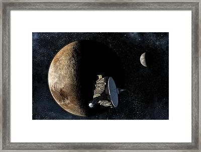 New Horizons Closest Approach To Pluto Framed Print