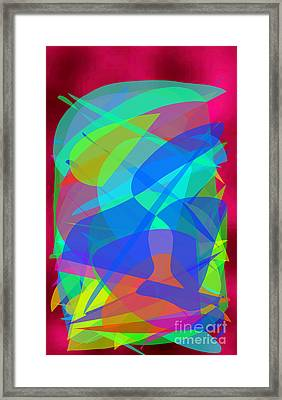 Framed Print featuring the painting New Horizons II by Ilona Svetluska