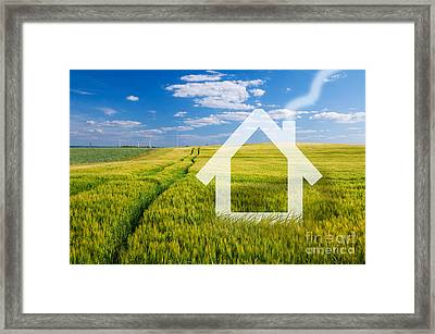 New House Vision Framed Print by Michal Bednarek