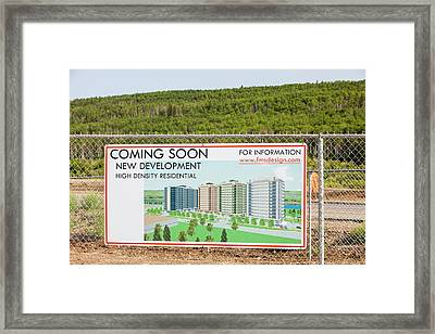 New Houses Being Built Framed Print by Ashley Cooper