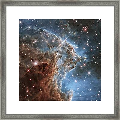 New Hubble Image Of Ngc 2174 Framed Print