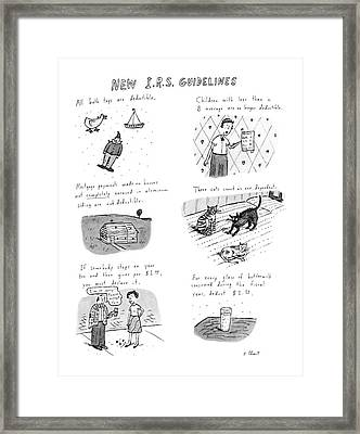 New I.r.s. Guidelines Framed Print