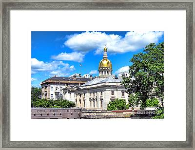 New Jersey Capitol Framed Print by Olivier Le Queinec