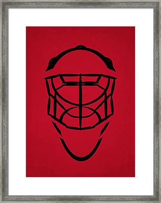 New Jersey Devils Goalie Mask Framed Print