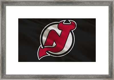 New Jersey Devils Uniform Framed Print