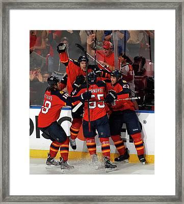 New Jersey Devils V Florida Panthers - Framed Print