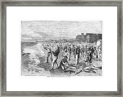 New Jersey Fishing, 1880 Framed Print