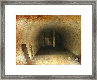Framed Print featuring the photograph New Jersey Military Cave by Denise Tomasura