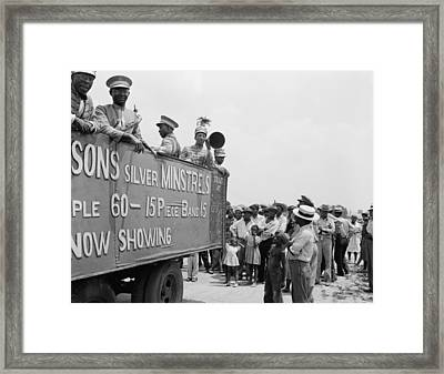 New Jersey Minstrels Framed Print by Granger