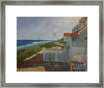 New Jersey Shore II Framed Print by Monica Caballero