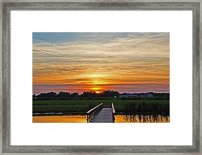New Jersey Summer Sunset Framed Print by Tom Gari Gallery-Three-Photography