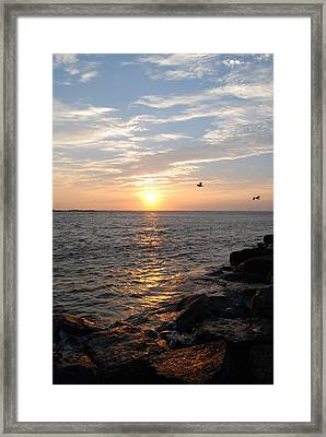New Jersey Sunrise Framed Print by Kathy Gibbons