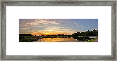 New Jersey Sunset Panoramic Framed Print