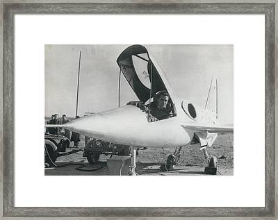 New Jet Pursuit Plane For French Air Force Framed Print by Retro Images Archive