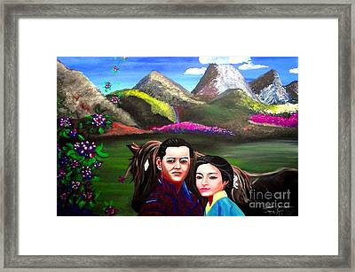 New King And Queen Of Bhutan Framed Print