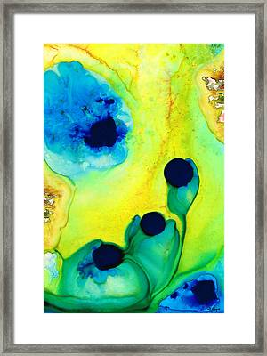New Life - Green And Blue Art By Sharon Cummings Framed Print