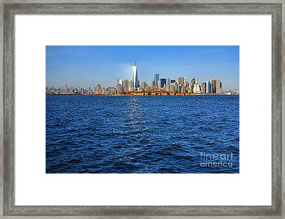 New Light On The Water Framed Print by Olivier Le Queinec