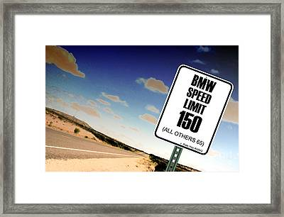 New Limits  Framed Print
