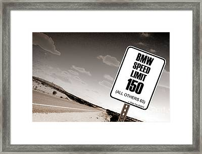 New Limits Sepia Framed Print