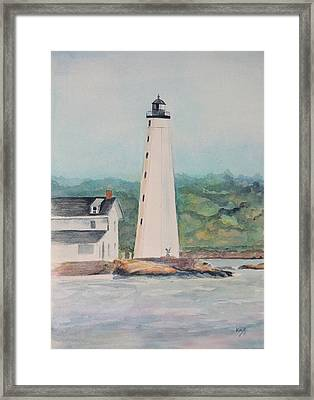 New London Harbor Lighthouse New London Ct Framed Print by Patty Kay Hall