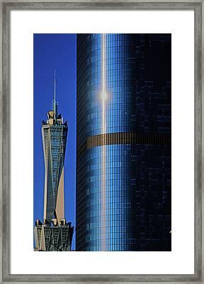 New Los Angeles Skyline Viewed Framed Print
