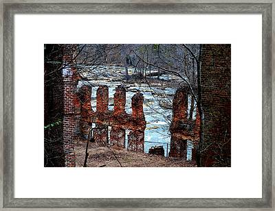 New Manchester Manufacturing Company Ruins Framed Print by Tara Potts