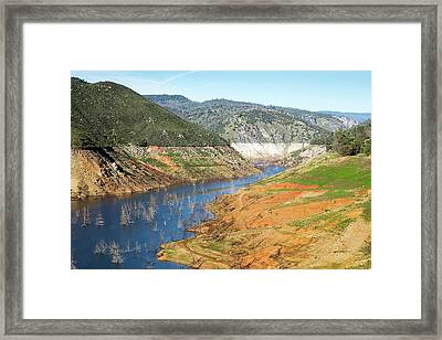 New Melones Lake Drought Framed Print by George Post