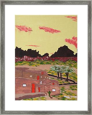 New Mexico Adobe Home Framed Print