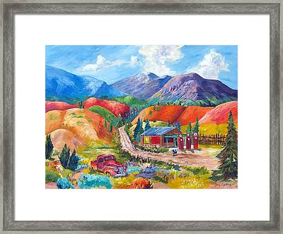 New Mexico Colors Framed Print by Judy Hopkins