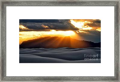 Framed Print featuring the photograph New Mexico Desert by Brian Spencer