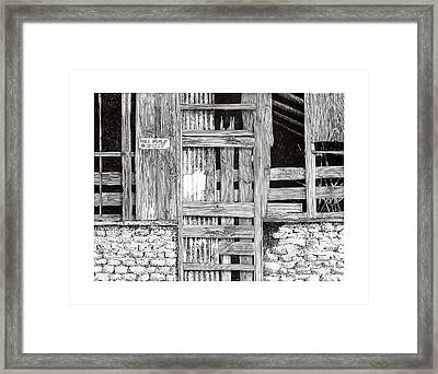 Will Build To Suit New Mexico Doors Framed Print by Jack Pumphrey
