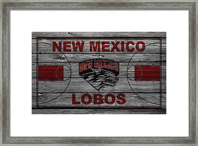 New Mexico Lobos Framed Print by Joe Hamilton
