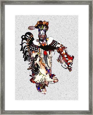 New Mexico Native Dancer Framed Print