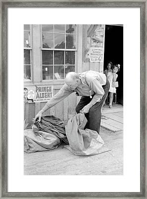 New Mexico Postman, 1940 Framed Print