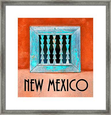 New Mexico Pueblo Window Work A Framed Print by David Lee Thompson