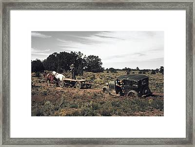 New Mexico Roads, 1940 Framed Print