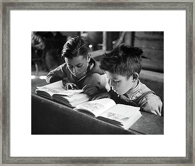 New Mexico School, 1943 Framed Print by Granger