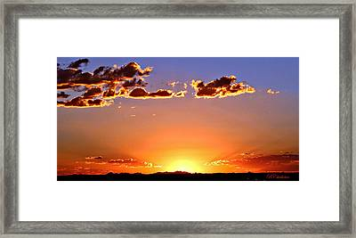 Framed Print featuring the photograph New Mexico Sunset Glow by Barbara Chichester