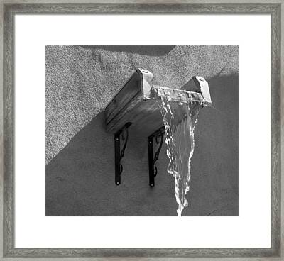 New Mexico Water Bw Framed Print