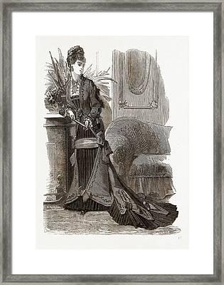 New Model Of Princess Robe Framed Print