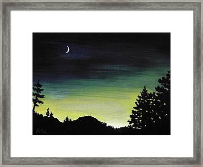 New Moon Framed Print by Anastasiya Malakhova